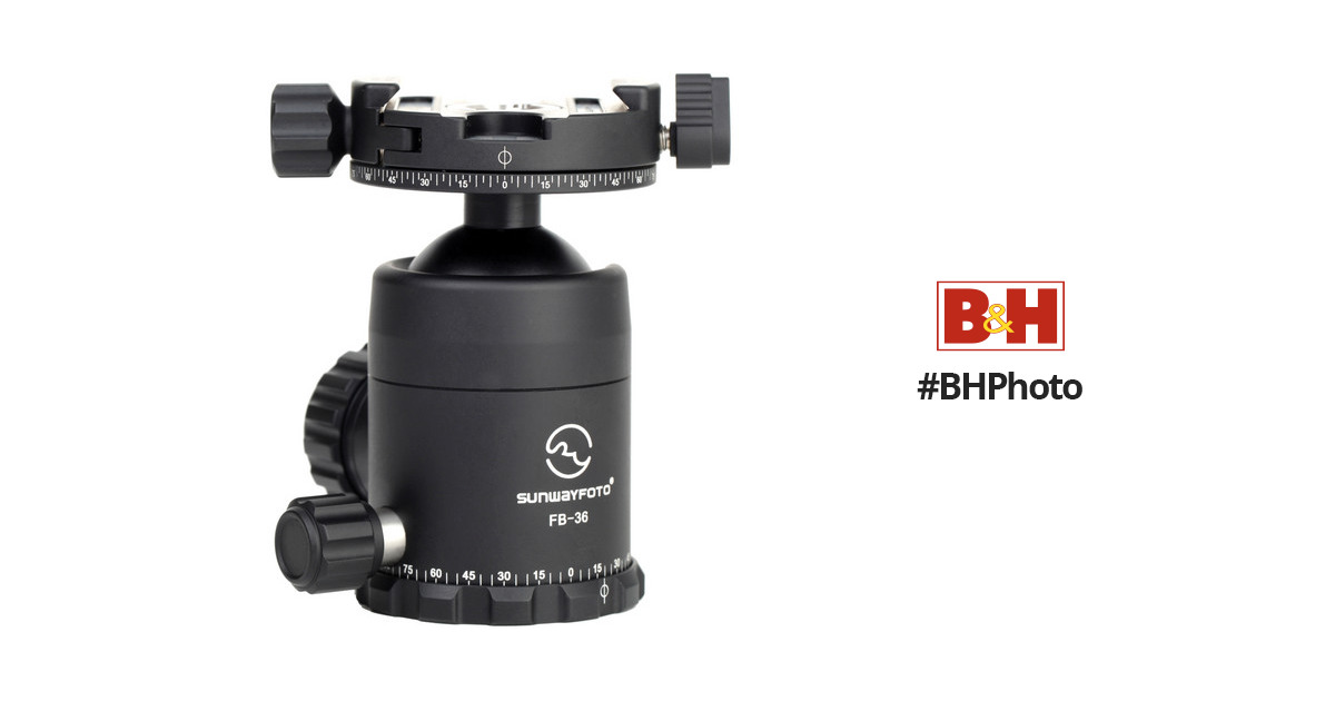sunwayfoto fb 36ddh2 ball head with panning clamp fb. Black Bedroom Furniture Sets. Home Design Ideas