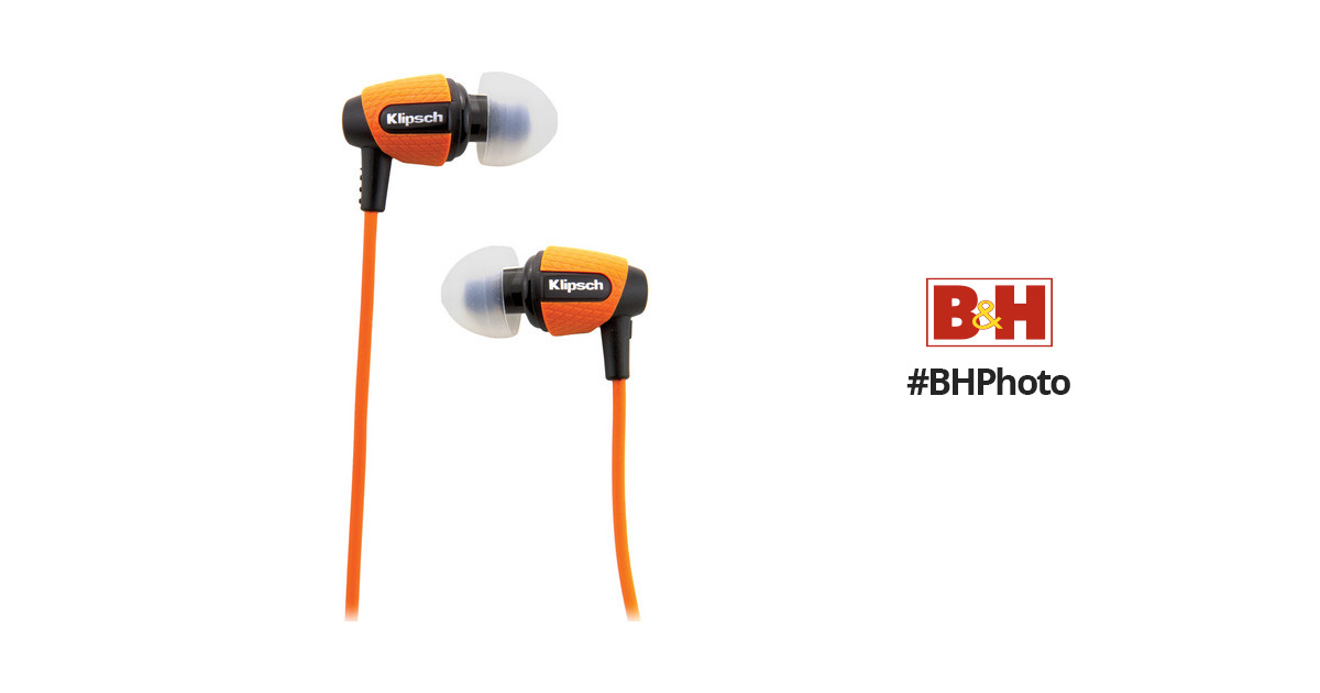 Klipsch Image S4i Rugged In Ear Headphones Orange