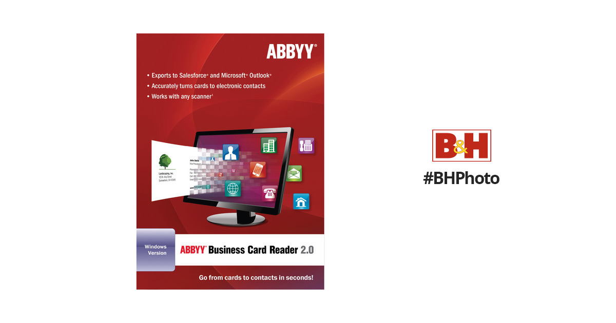Abbyy abbyy business card reader 20 for windows frlbcrdfw2xb colourmoves