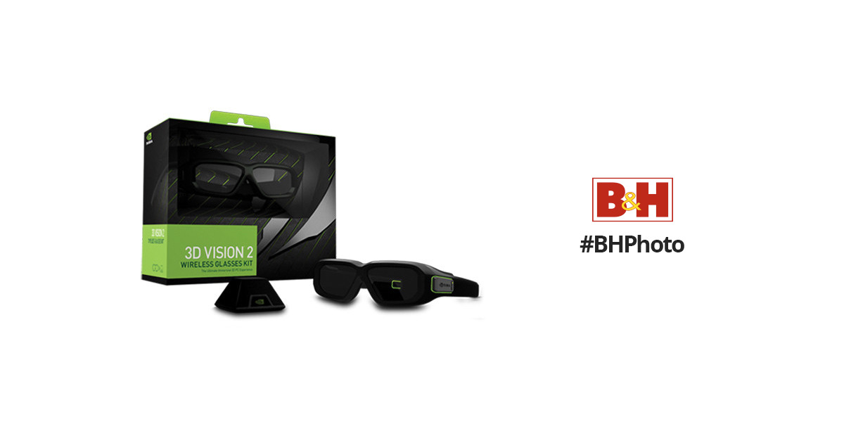 3d Nvidia Vision Myopiageneral Glasses: NVIDIA 3D Vision 2 Wireless Glasses Kit 942-11431-0007-001 B&H