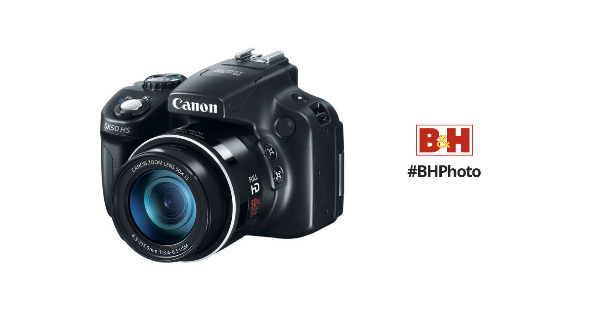 Canon Powershot Sx50 Hs Digital Camera 6352b001 Bh Photo Video