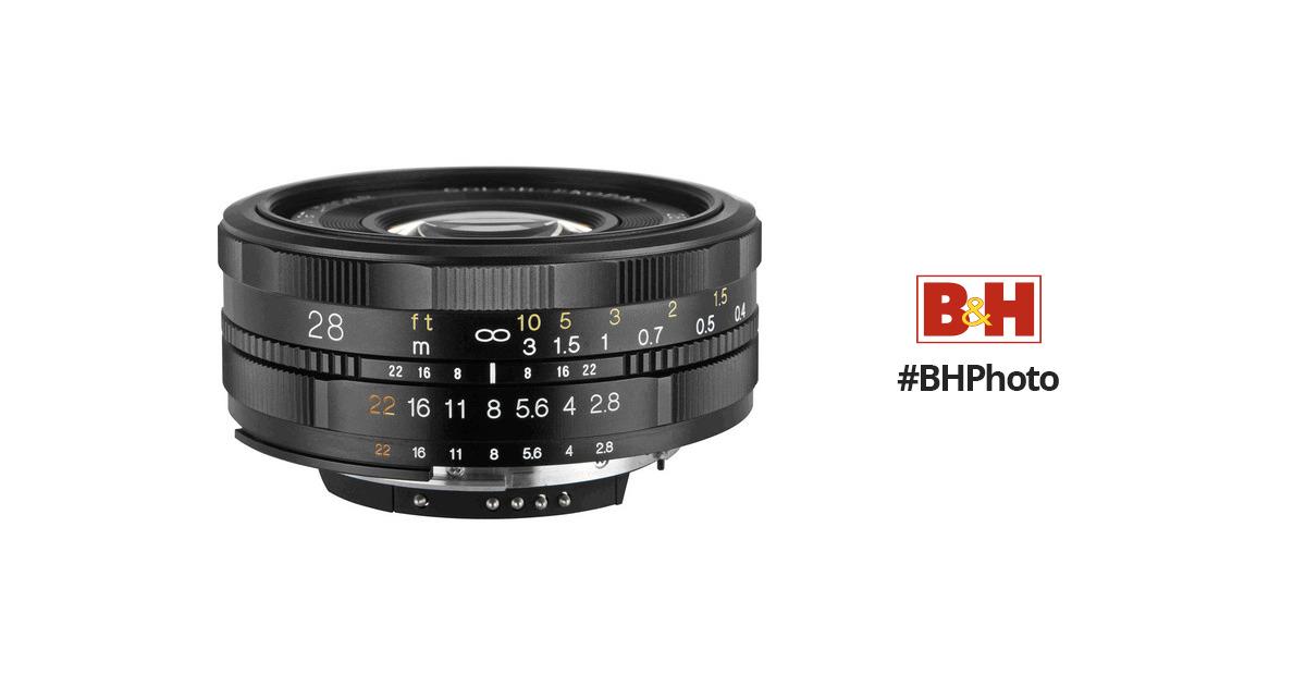 Voigtlander 28mm F 2 8 Color Skopar Sl Ii Lens For Nikon
