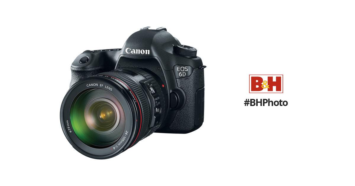 Canon EOS 6D DSLR Camera with 24-105mm f/4L Lens 8035B009 B&H