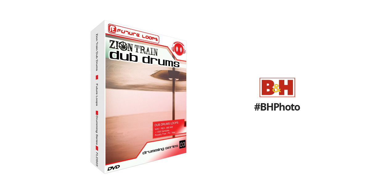 Big Fish Audio Zion Train Dub Drums DVD (REX / WAV Formats)