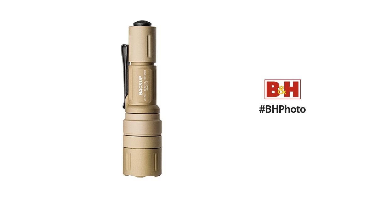 SureFire EB1 Backup LED Flashlight (No-Shroud Tailcap, Tan)