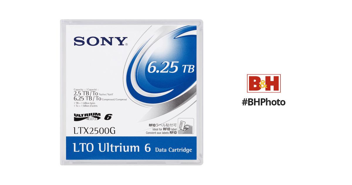 6.25 TB SONY LTX2500G LTO 6 Ultrium  Data Cartridge 2.5 TB