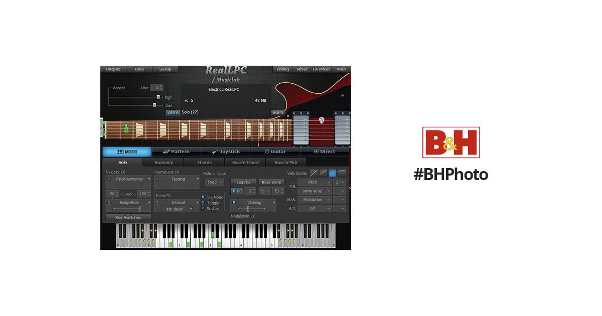 MusicLab RealLPC Virtual Guitar Instrument (Download) 12-41276