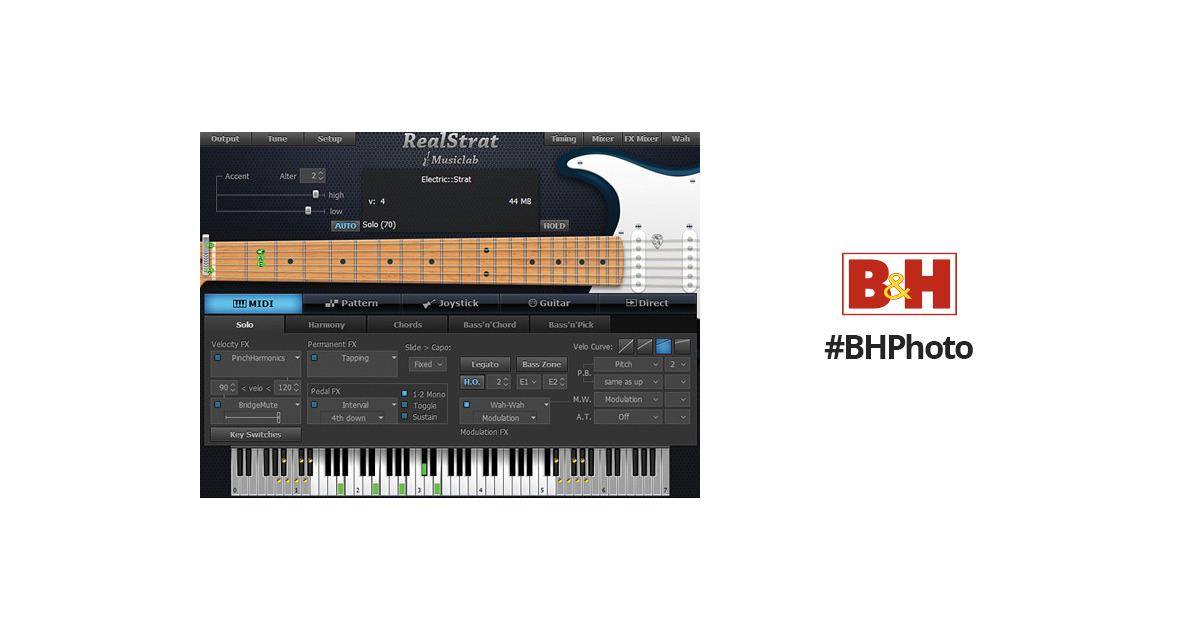 Musiclab Realstrat 3 Virtual Instrument 12 41275 Bh Photo Video