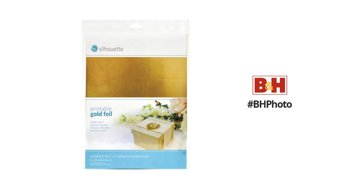 graphic regarding Silhouette Printable Gold Foil identify silhouette Printable Adhesive Gold Foil (8.5 x 11\