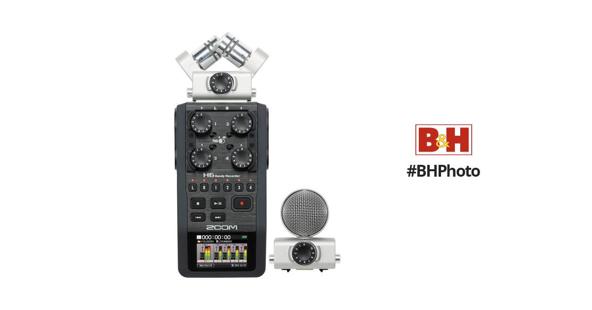 zoom h6 6 input 6 track portable handy recorder h6 b h photo. Black Bedroom Furniture Sets. Home Design Ideas