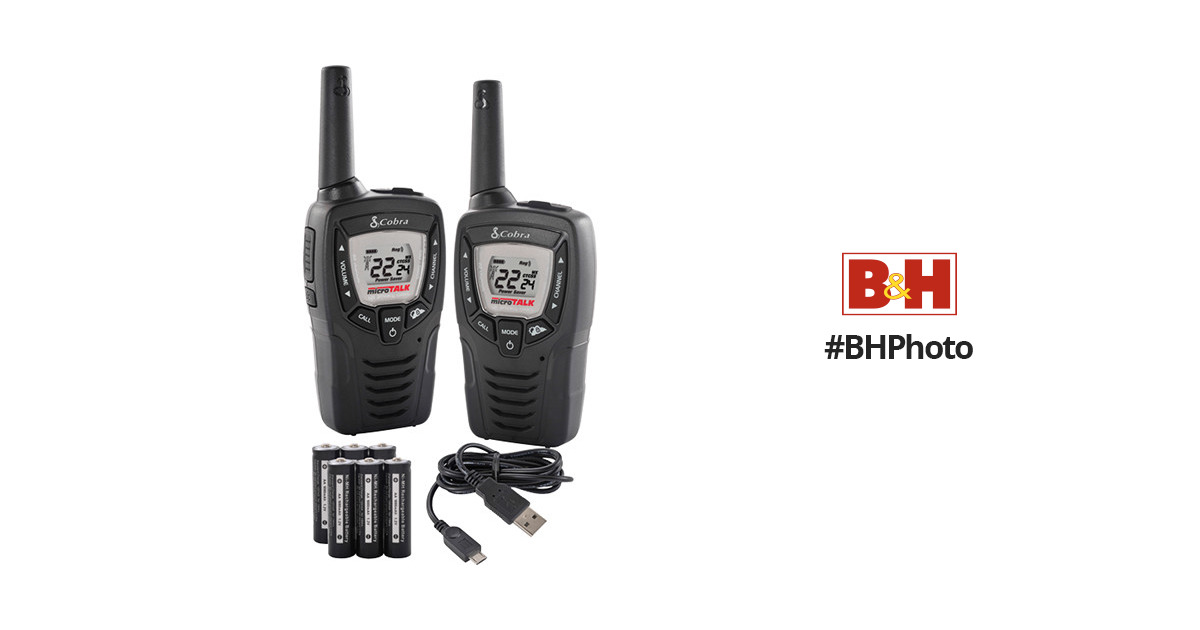 Cobra CXT345 Walkie Talkie 23-Mile Radio (Pair)
