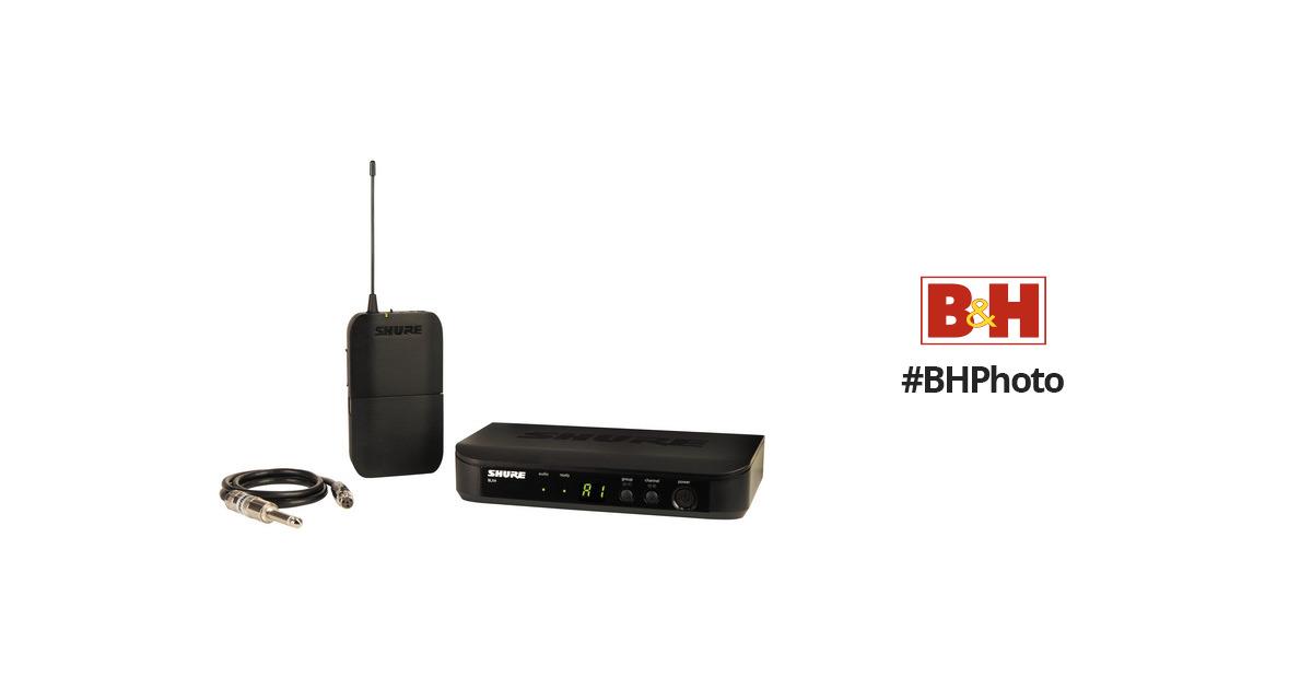 shure blx14 bodypack wireless system for guitar or bass blx14 h8. Black Bedroom Furniture Sets. Home Design Ideas