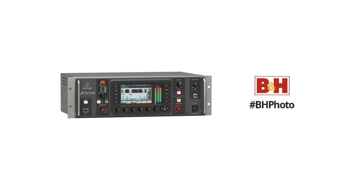 behringer x32 rack 40 input 25 bus digital mixer x 32 rack b h. Black Bedroom Furniture Sets. Home Design Ideas
