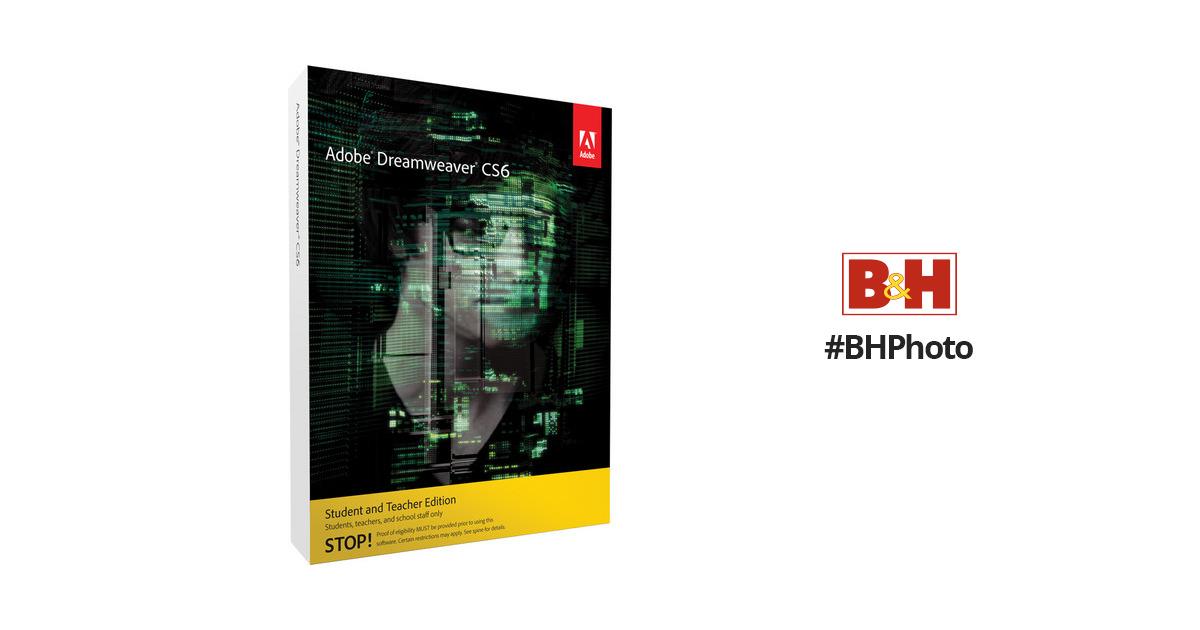 Buy Adobe Dreamweaver Cs6 Student And Teacher Edition Mac Os