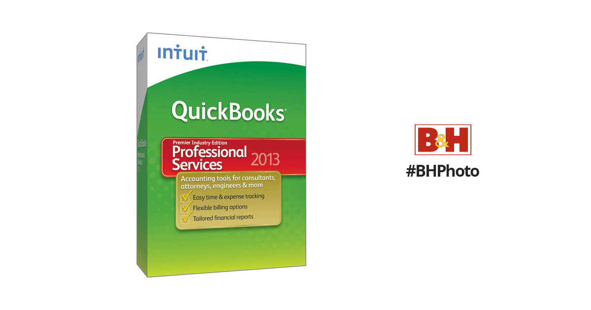 Intuit QuickBooks Premier Professional Services 2013 (Electronic Download)