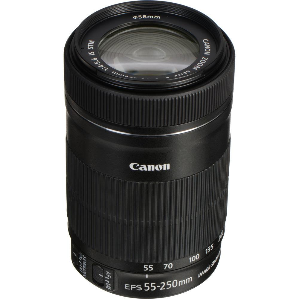 canon ef s 55 250mm f 4 5 6 is stm lens 8546b002 b h photo video. Black Bedroom Furniture Sets. Home Design Ideas