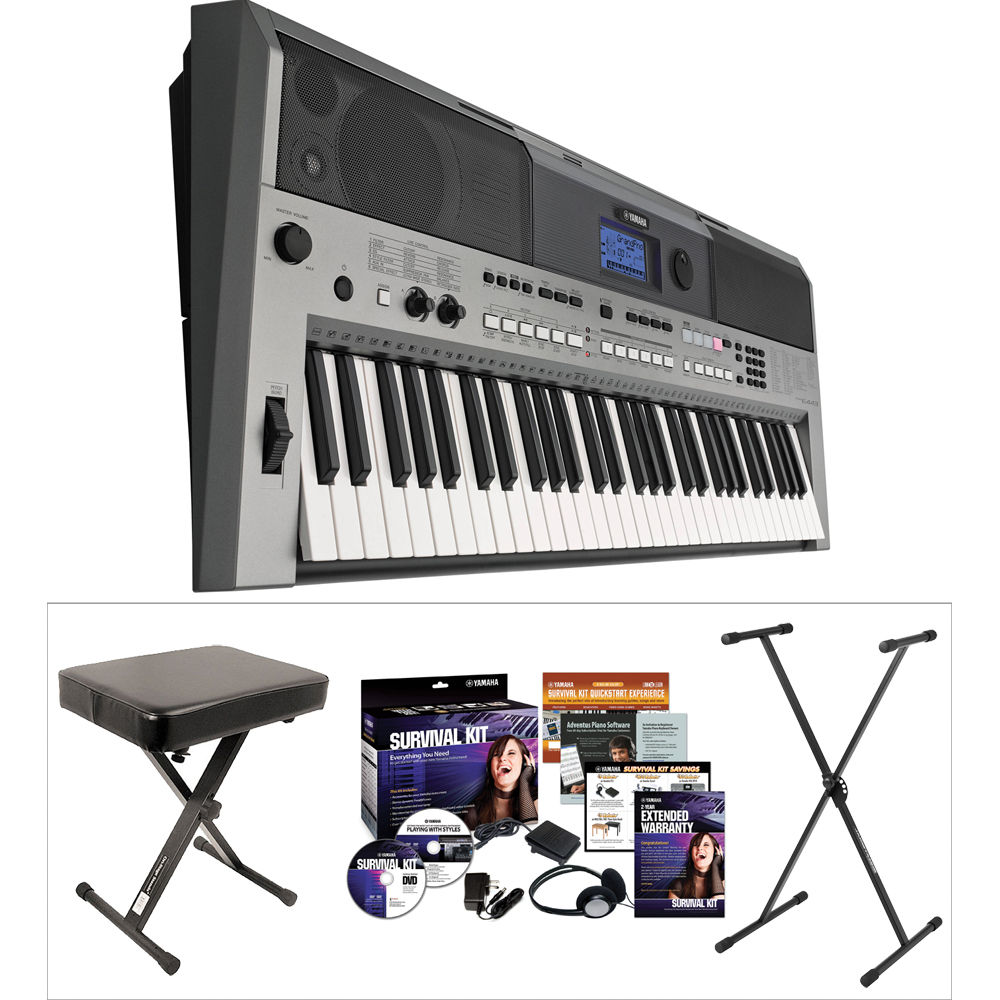 yamaha yamaha psr e443 value kit b h photo video. Black Bedroom Furniture Sets. Home Design Ideas