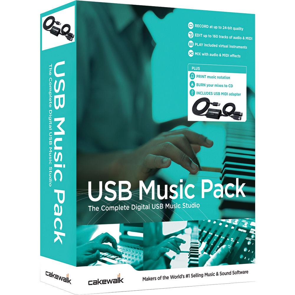 Cakewalk USB Music Pack - MIDI Interface & Music Software Bundle (Windows)