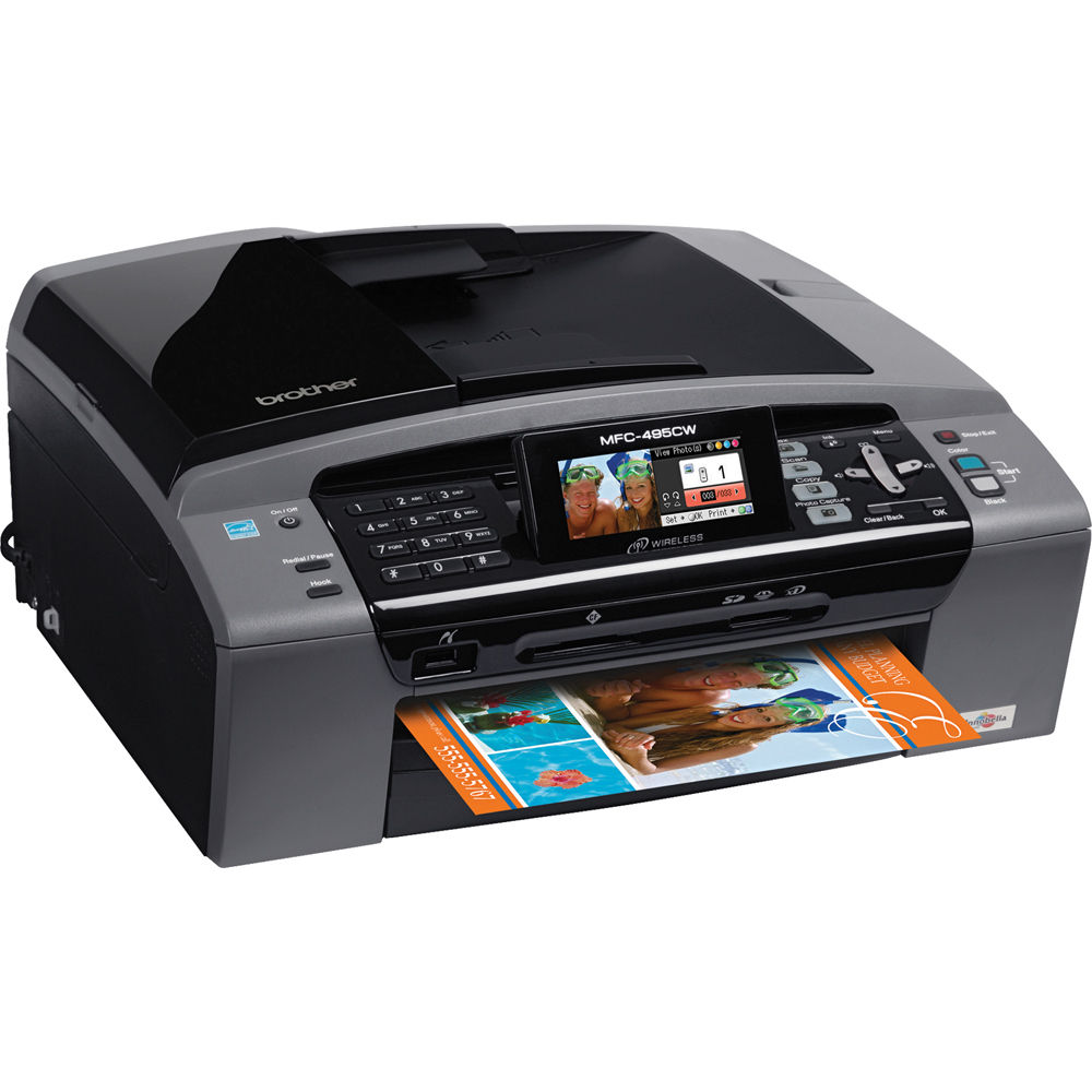 Brother MFC-495CW Wireless All-In-One Color Inkjet Printer