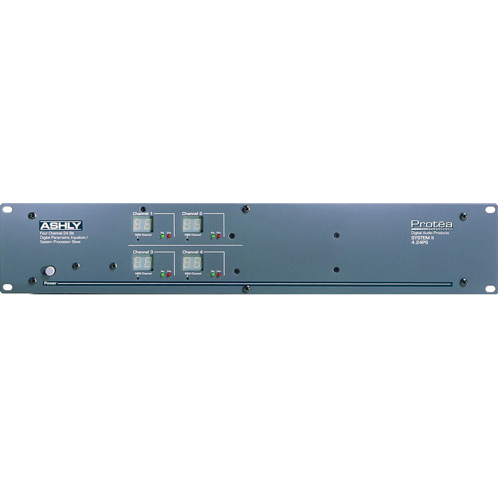 Ashly 4 24PS - Four Channel Parametric Equalizer/System Processor with  Remote Software Control