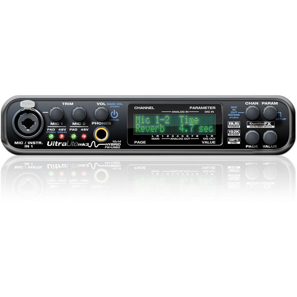 MOTU UltraLite-mk3 - Hybrid FireWire/USB 2 0 Audio & MIDI Interface