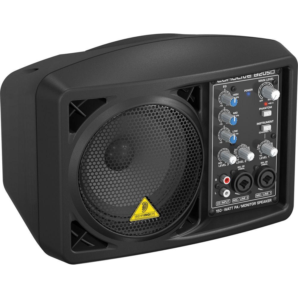 Behringer Eurolive B205D Active Singer Performance PA Monitor Speaker System