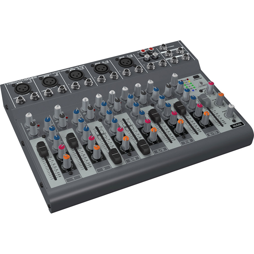 Behringer Xenyx 1002b Battery Operated 10 Channel Audio Mixer