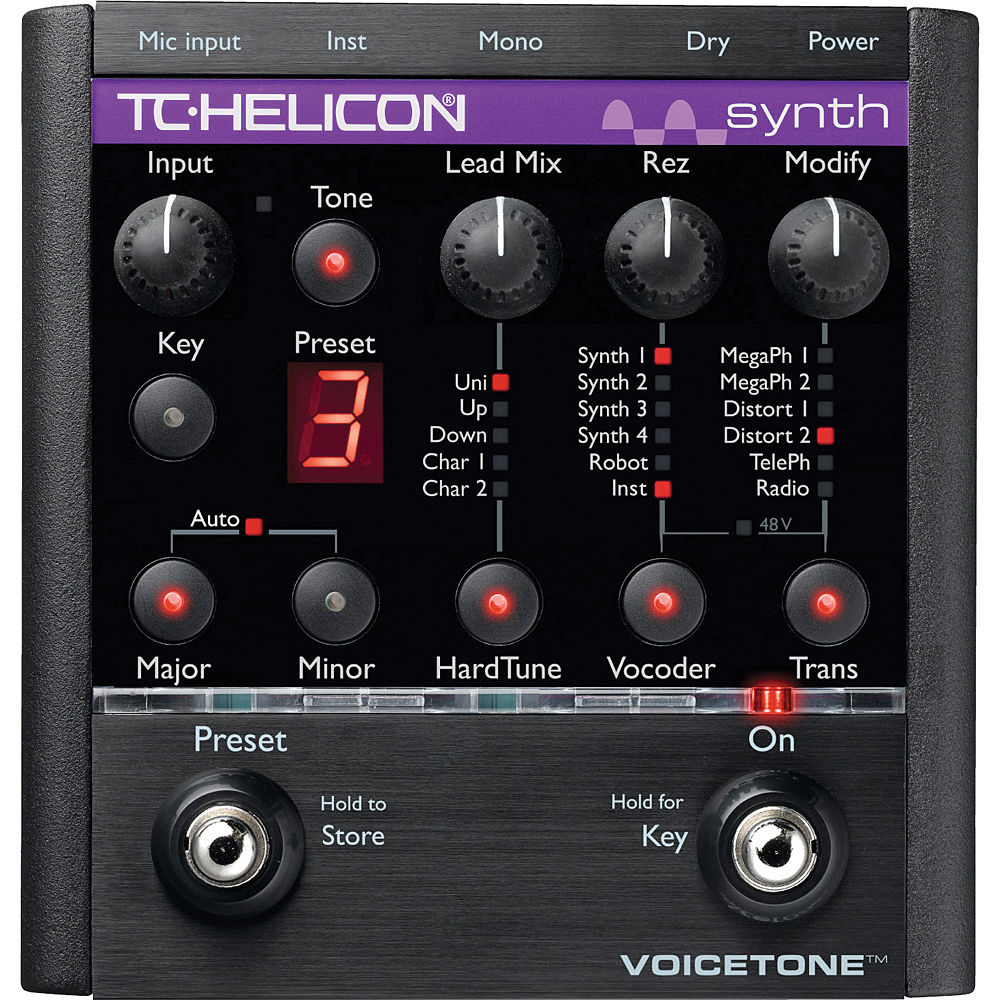 TC-Helicon VoiceTone Synth - HardTune and Vocoder-in-a-Pedal