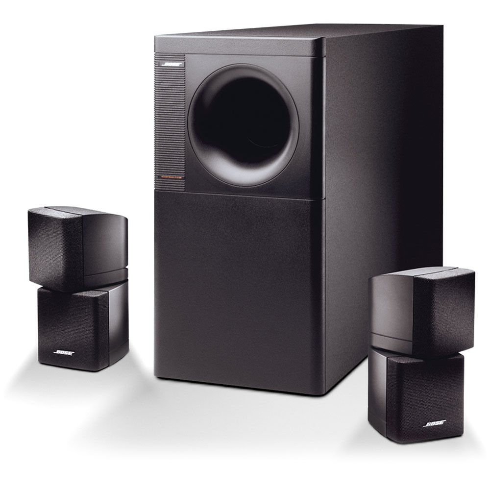 Great 2 Bose Lifestyle//Acoustimass Double Cube Speakers White