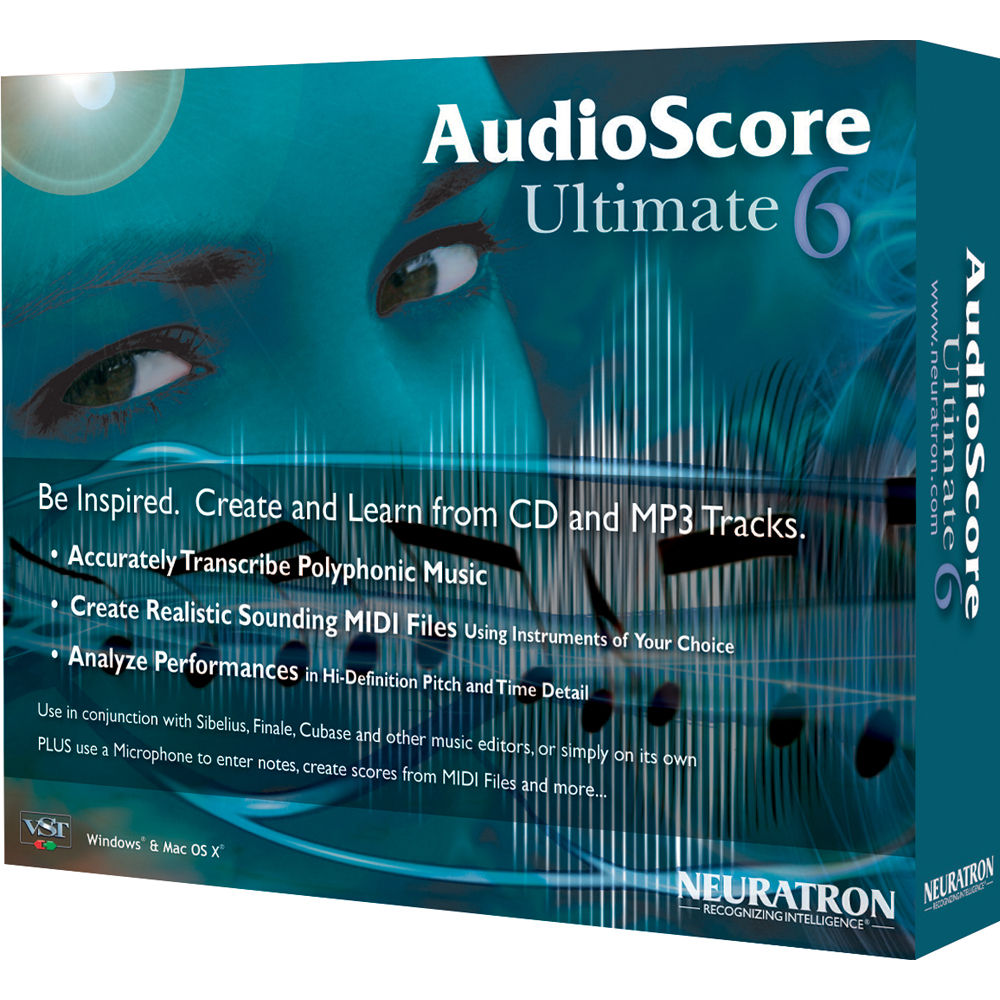 Sibelius AudioScore Ultimate 6 - Polyphonic Music Recognition and  Transcription Software
