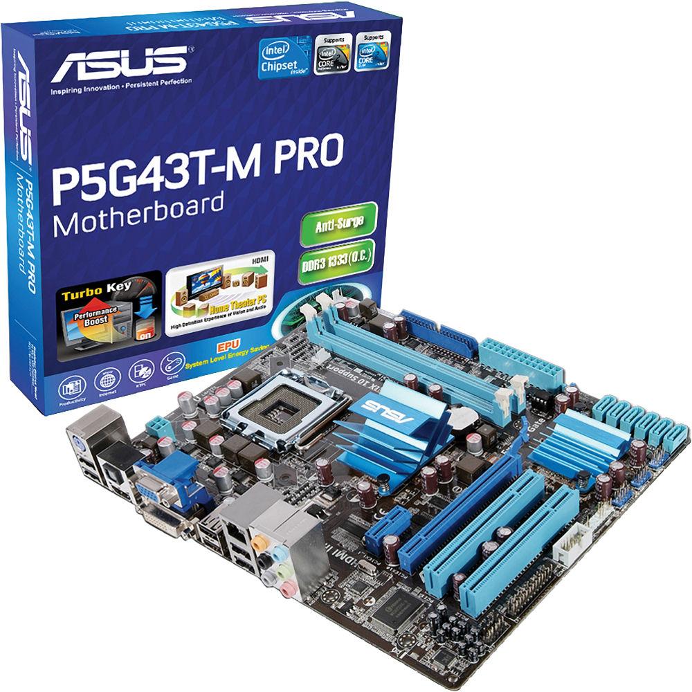 ASUS P5G43T-M Pro Motherboard P5G43T-M PRO B&H Photo Video