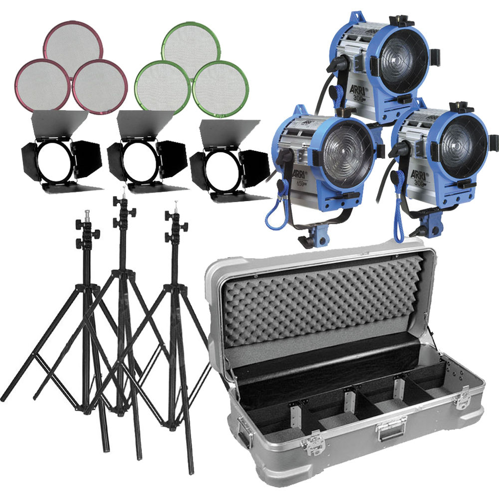 Fresnel Tungsten Video Continuous Lighting 150W As Arri Spot Light Pro Two Set
