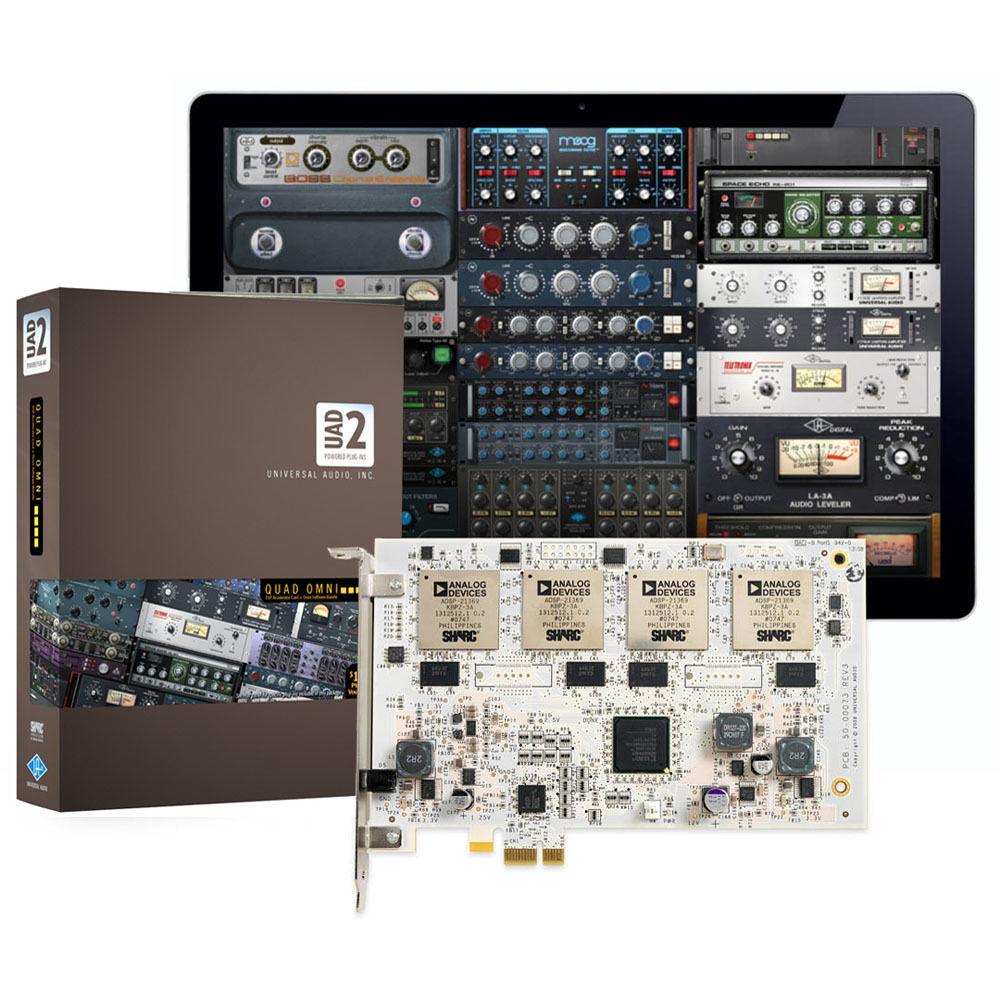 Universal Audio UAD-2 Quad Omni (v5 7) - PCIe DSP Card and Plug-In Bundle