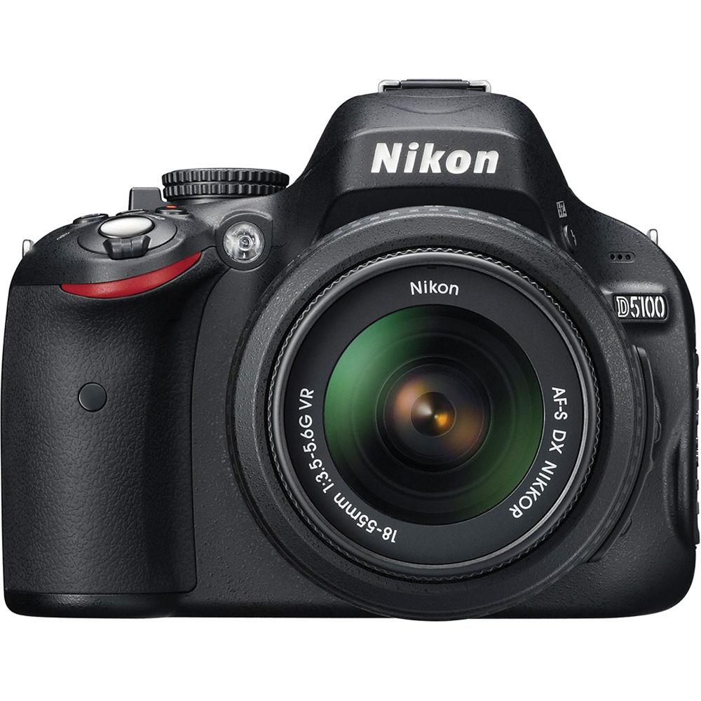 Nikon D5100 Digital SLR Camera With 18-55mm f/3.5-5.6G VR Lens on