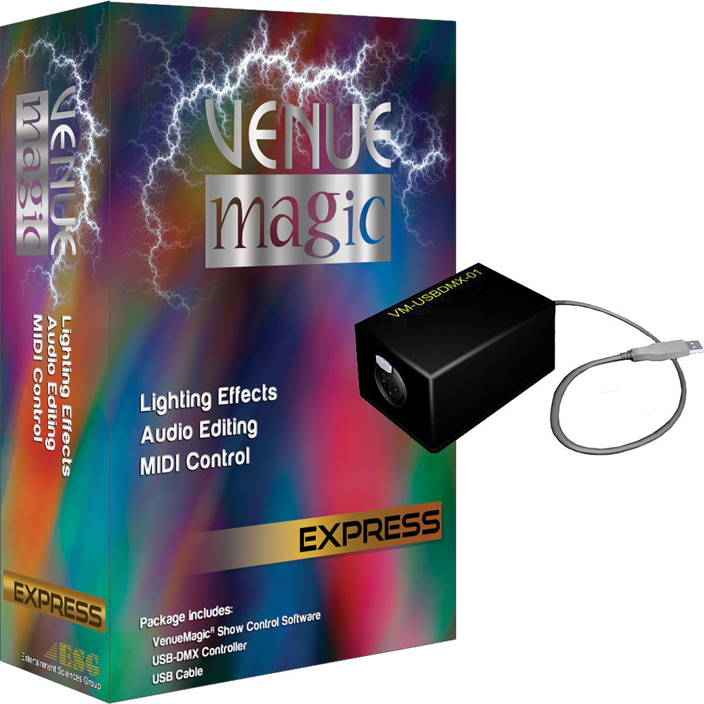 VenueMagic 2 1 Express DMX Control Software with Dongle