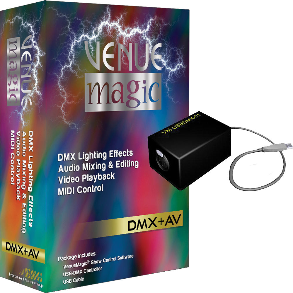 VenueMagic 2 1 Classic DMX + AV Control Software with Dongle