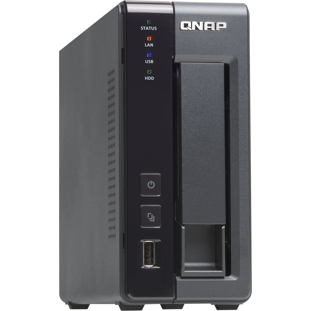 QNAP TS-119P II 1-Bay 512 MB All-In-One NAS Server For Home / SOHO
