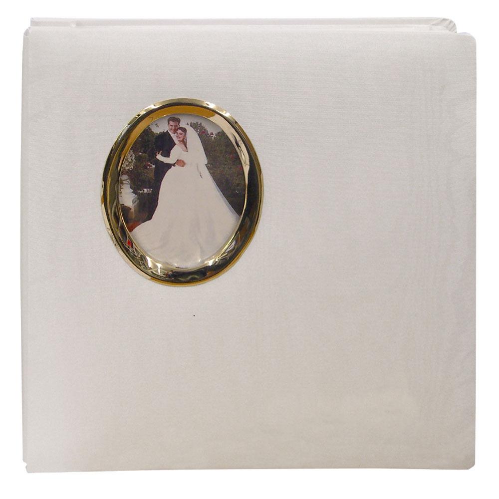 Pioneer Photo Albums WF5781-G Oval Framed Wedding Album (Gold Oval Frame)