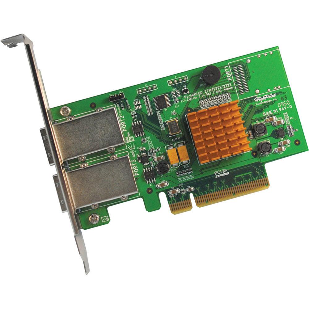 HighPoint RocketRAID 2722 2-Connector Mini-SAS PCI-Express