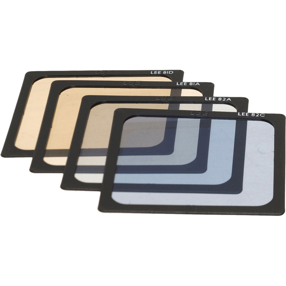 LEE Filters Fine Color Temperature (Fine CT) Polyester Filter Set (81A,  81D, 82A & 82C)