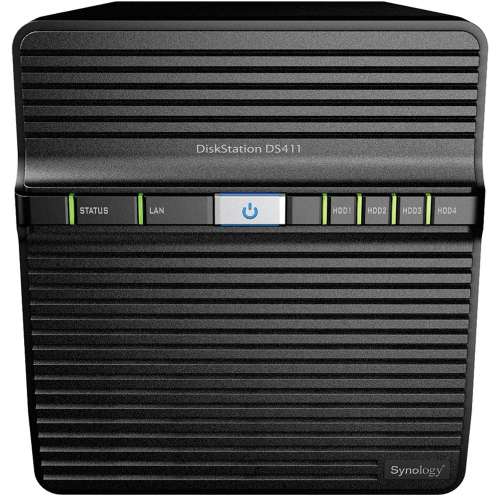 Synology DiskStation DS411 4-Bay NAS Server for Workgroups and Offices