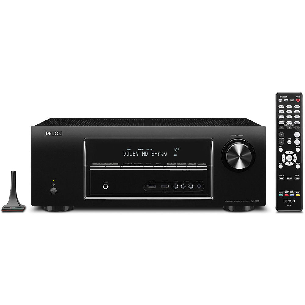 Denon AVR-1913 7 1 Channel 3D Pass Through and Networking Home Theater  Receiver
