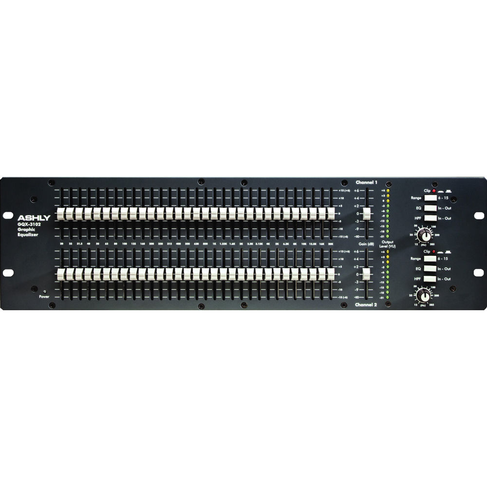 Ashly GQX-3102 - Dual Channel 31-Band Graphic Equalizer