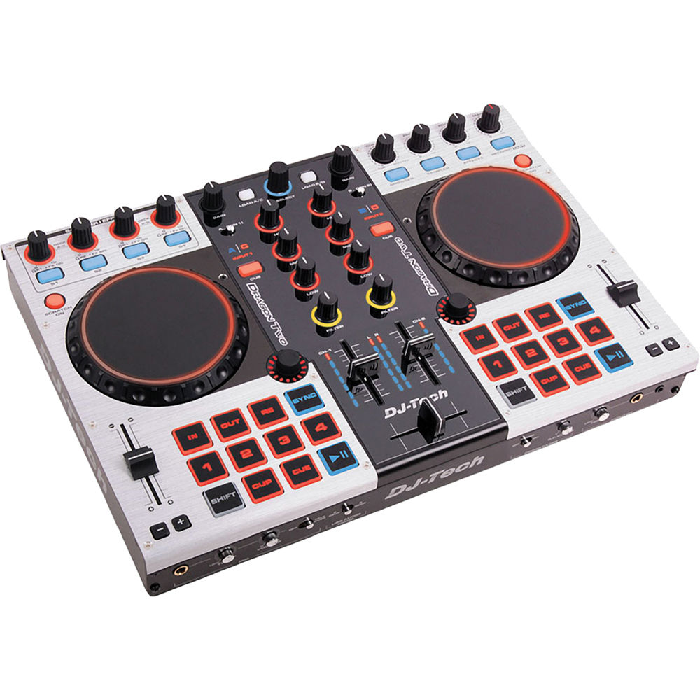 DJ-Tech Dragon Two Professional 4-Channel Digital DJ Controller and Mixer