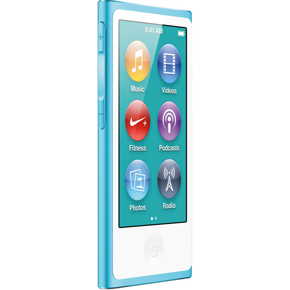 Apple 16gb Ipod Nano Blue 7th Generation Md477ll A B H Photo