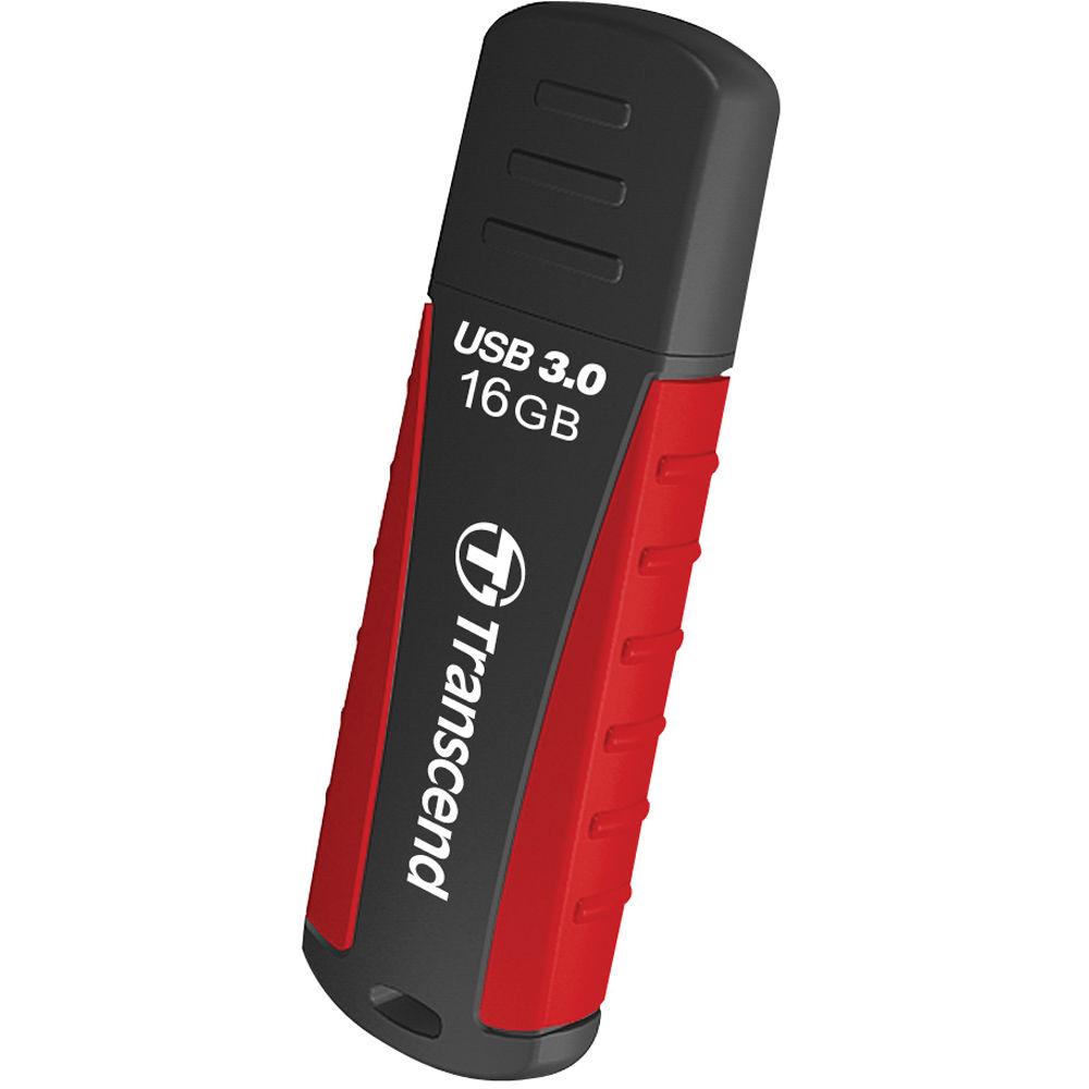 Transcend 16GB JetFlash 810 USB 3 0 Flash Drive (Red/Black)