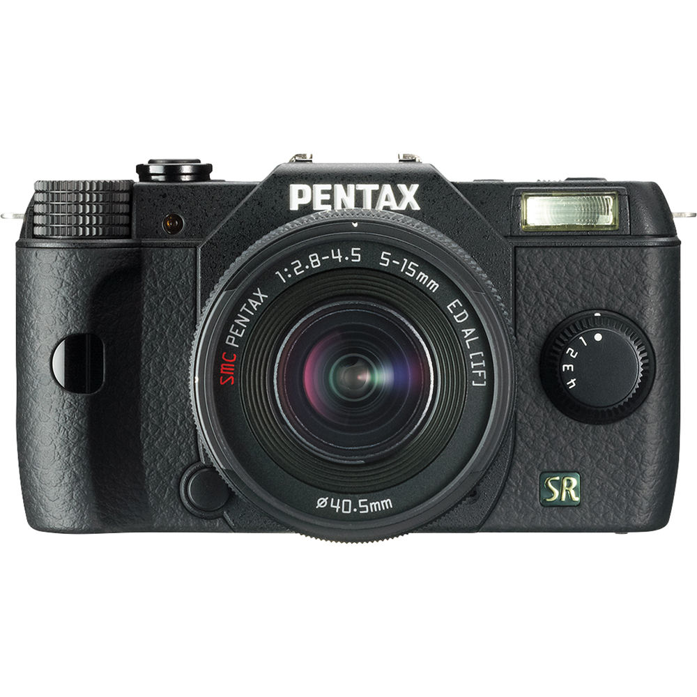 Pentax Q7 Compact Mirrorless Camera with 5-15mm f/2 8-4 5 Zoom Lens (Black)