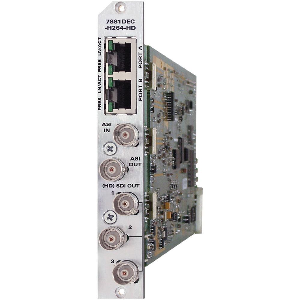 Evertz Microsystems 7881DEC-H264HD H 264/AVC Decoder (3RU Back Plate)