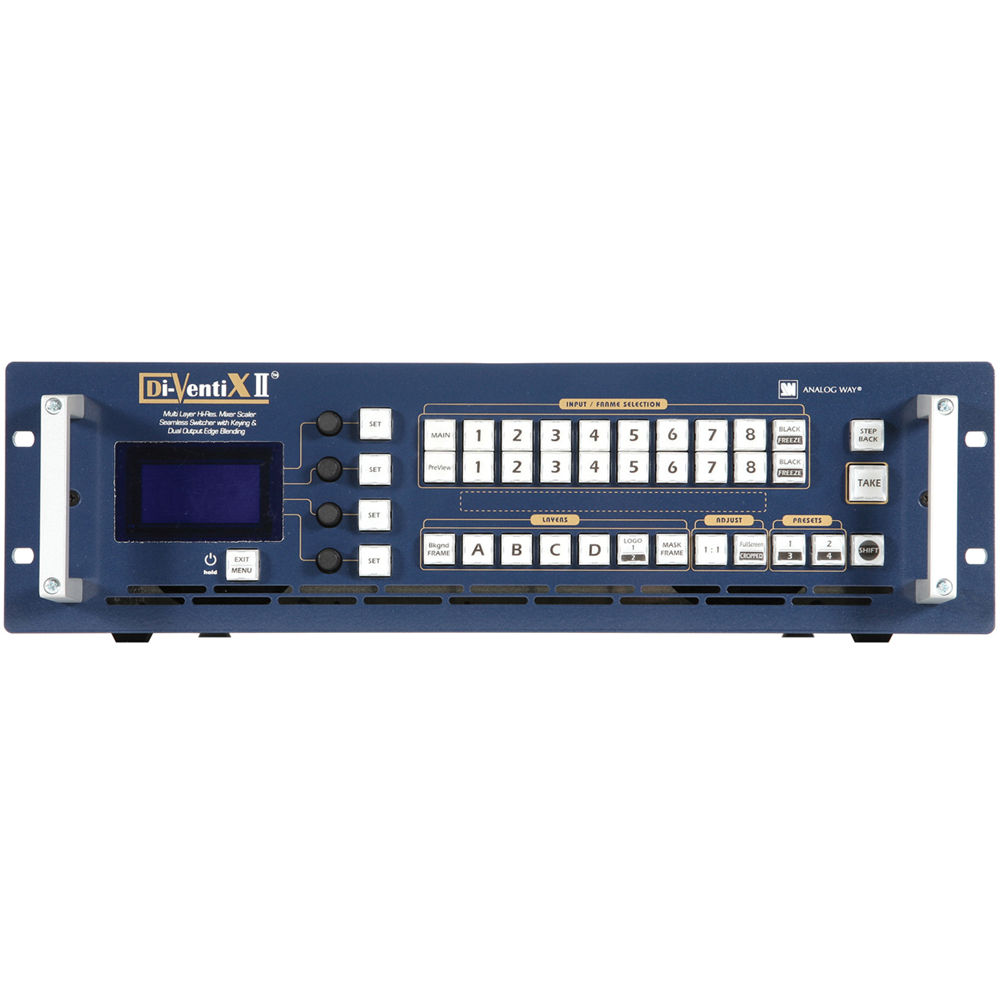 Analog Way DVX8044-VO DI-VENTIX II Mixer, Scaler & Seamless Switcher with  CROSS BLENDER Software and Video Output Option