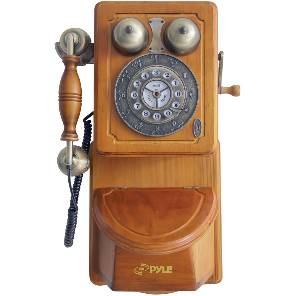 Phenomenal Pyle Home Retro Themed Country Style Antique Wall Mount Phone Download Free Architecture Designs Embacsunscenecom